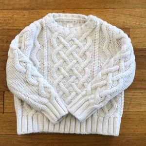 JCrew Crewcuts White Cable Knit Sweater
